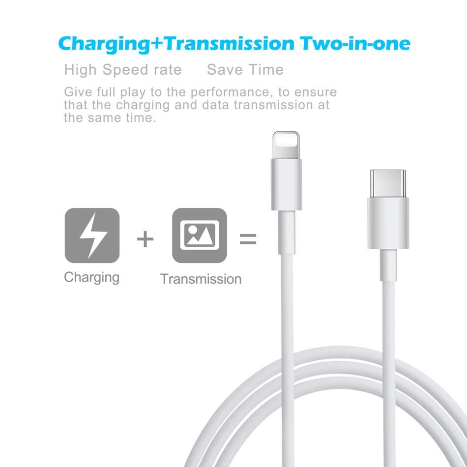 Usb Type C Fast Charging Cable For Iphone Xr Xs Max X Fast Data Charging Cable For Macbook Usb C Lightning Cable For Apple Usb Macbook Sync