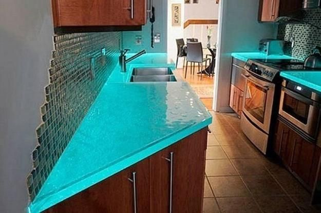 Modern Glass Kitchen Countertop Ideas Latest Trends In Decorating Simple Kitchen Counter Top Designs Design Inspiration Design
