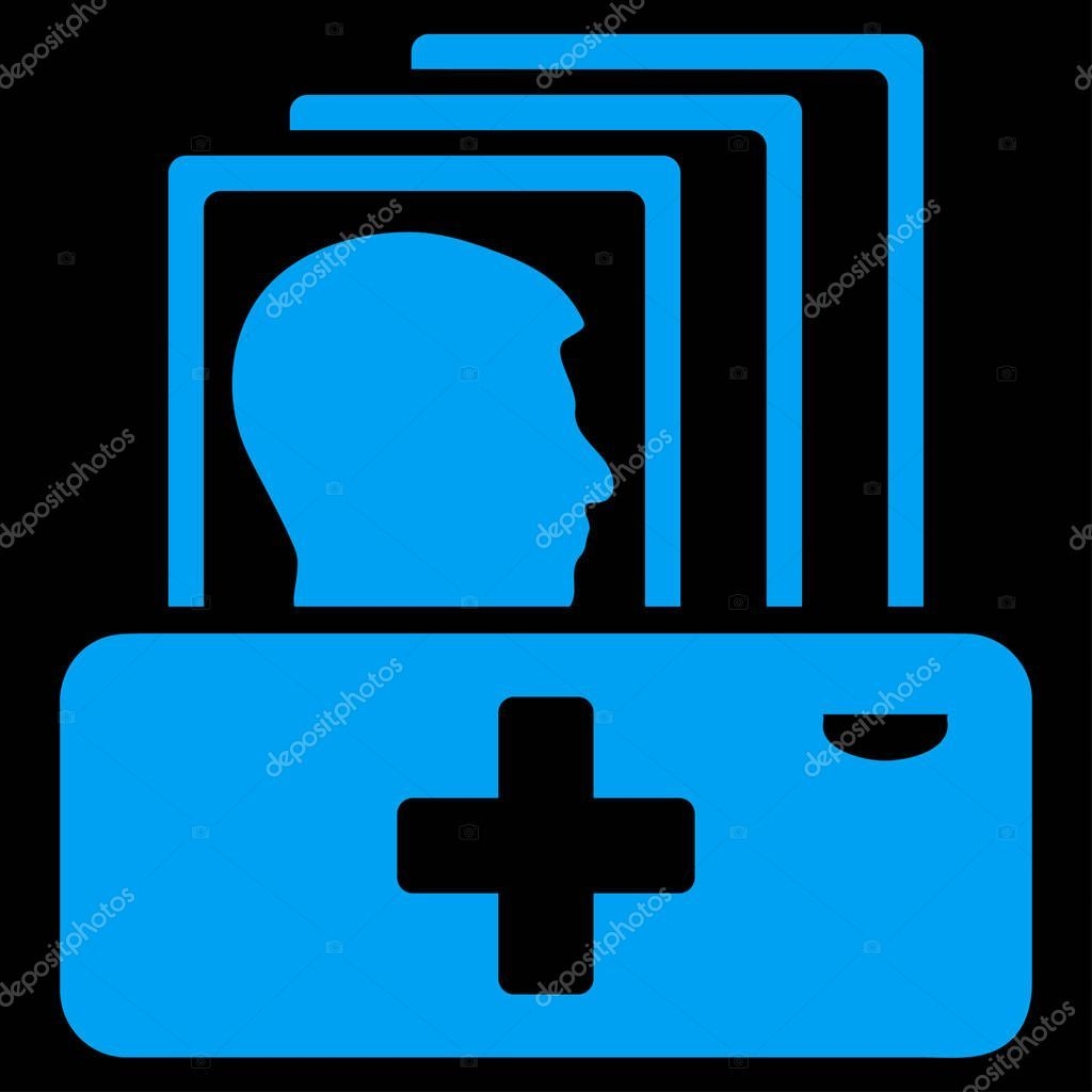 Patient Catalog Raster Icon Style Flat Symbol Blue Color Rounded  Stock