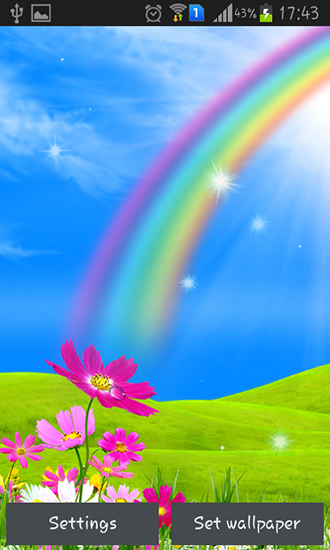 Rainbow Live Wallpaper For Android Rainbow Free Download For