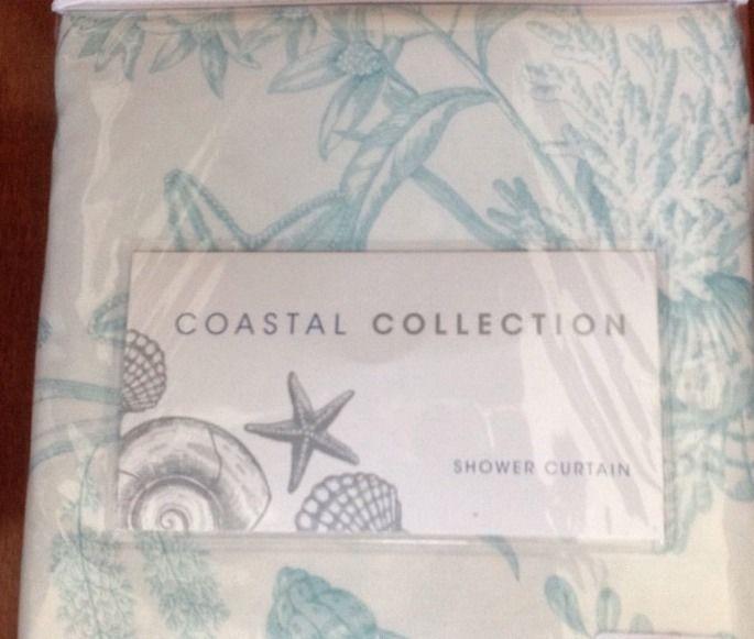 Coastal Collection Fabric Shower Curtain 70 X 72 100 Polyester Seashore New CoastalCollection Contemporary