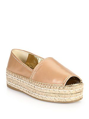 9050497e7044 Prada Platform Open-Toe Leather Espadrilles