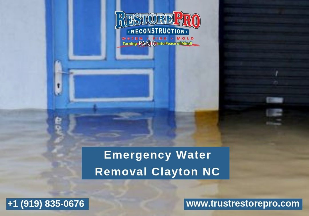 Sanford nc water damage cleanup repair restoration