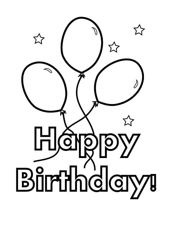 Balloons For Birthday Party Coloring Pages Best Place To Color Happy Birthday Coloring Pages Coloring Birthday Cards Birthday Coloring Pages