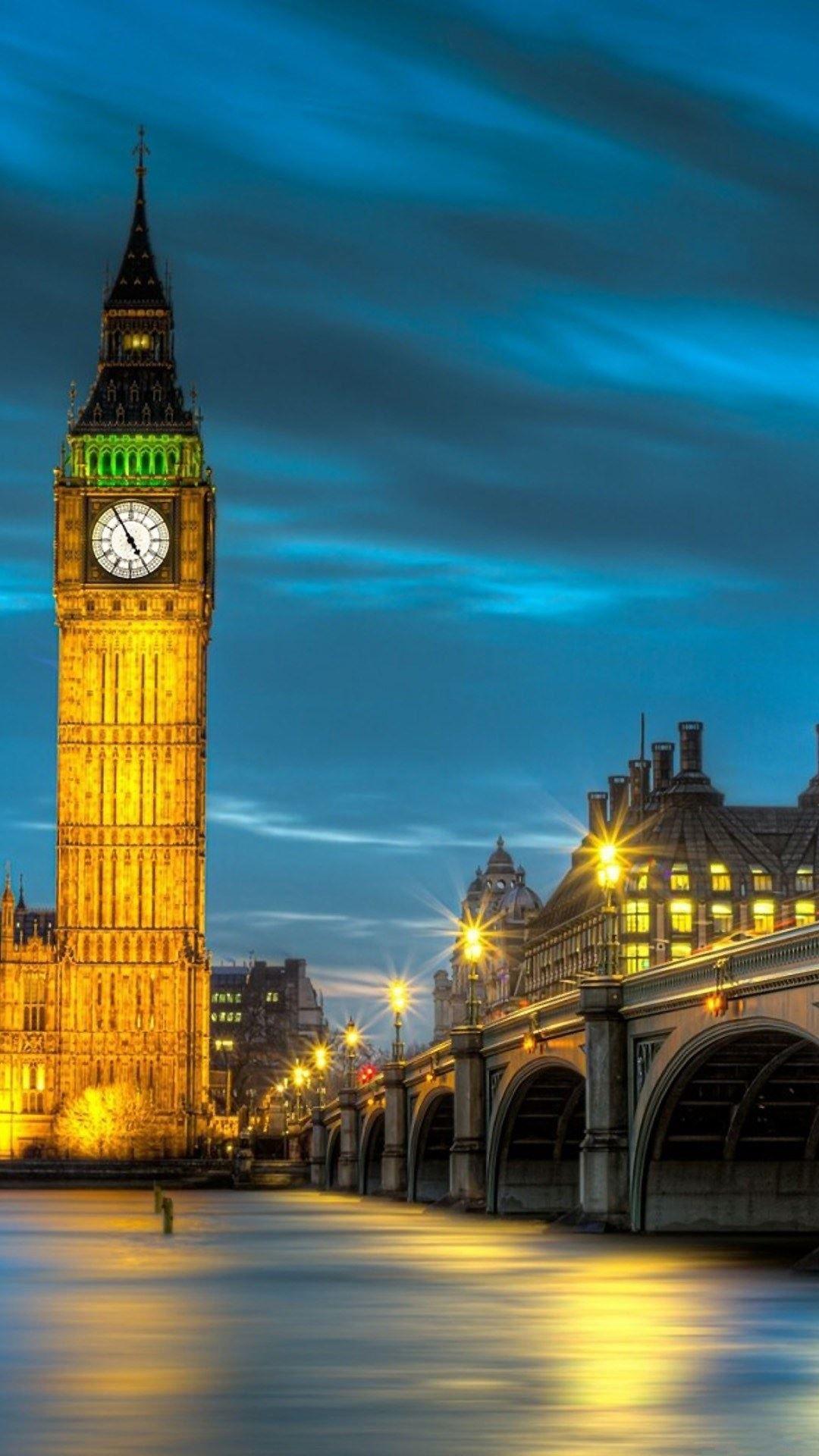 London Big Ben Illustration HTC One wallpaper