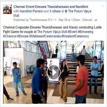Chennai Corporate Emcees Thamizharasan And Nandy