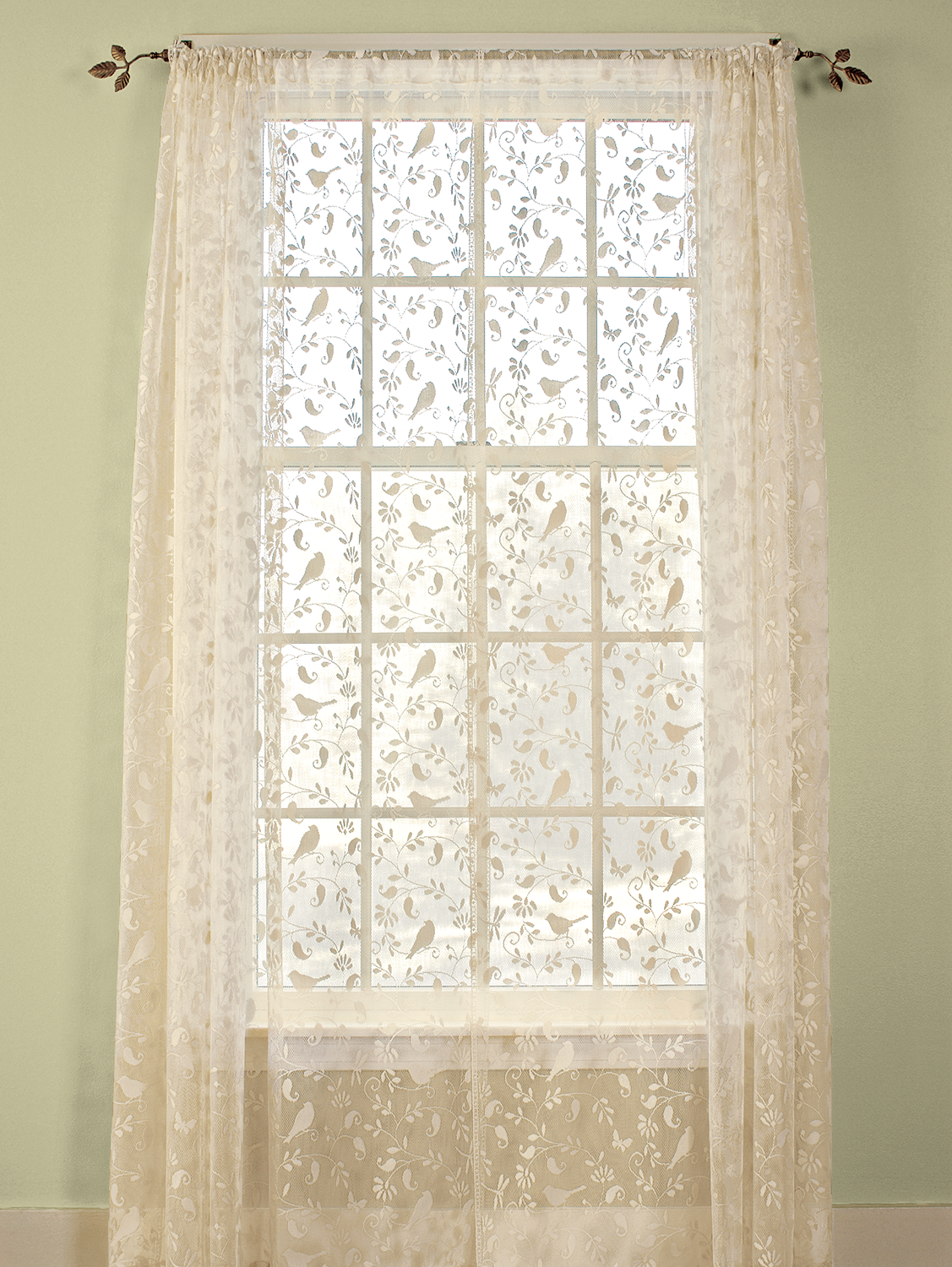 Birdsong Lace Rod Pocket Panel And Tier Rod Pocket Panel Cottage Curtains Drapes Curtains