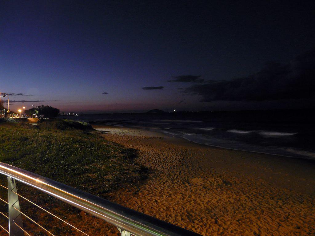Night Mooloolabah Beach On The Sunshine Coast Queensland
