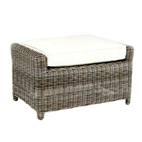 Hand Crafted Sag Harbor Synthetic Wicker Deep Seating Ottoman