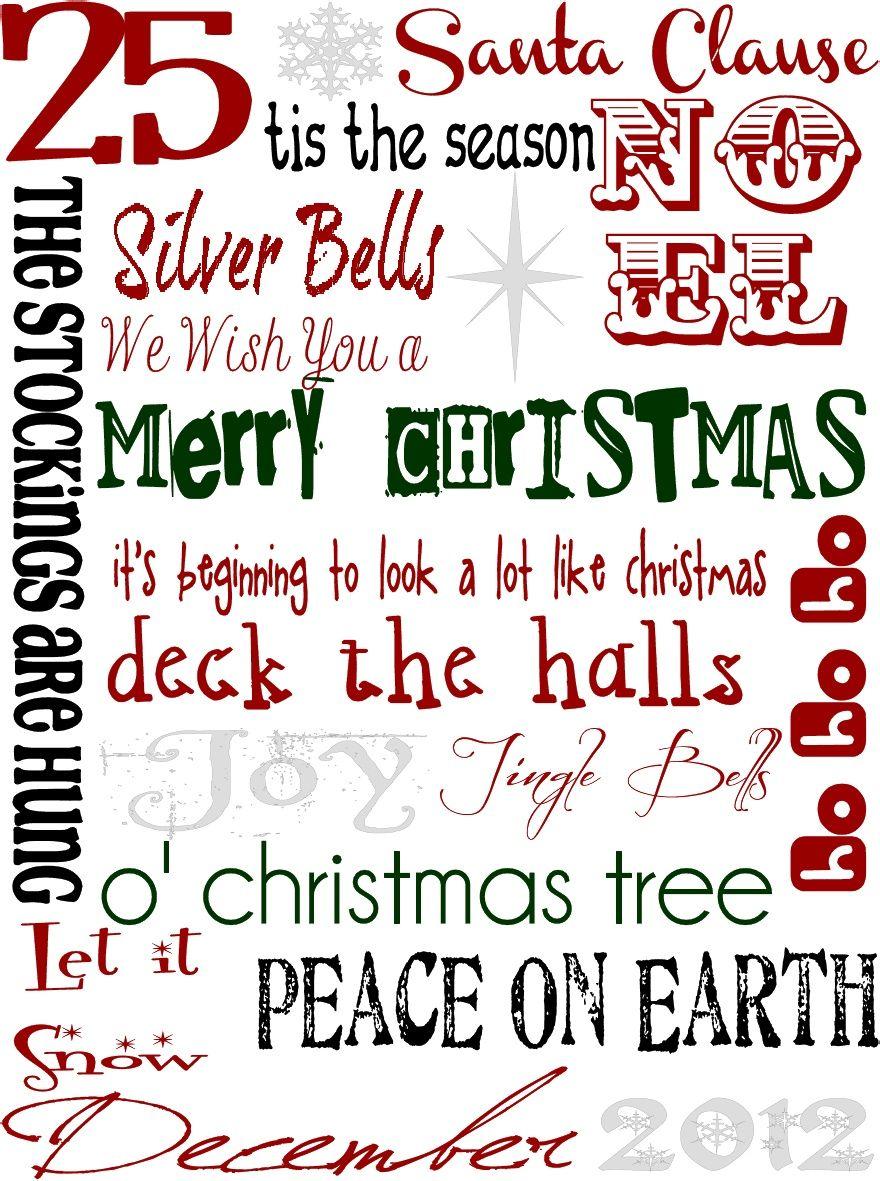 Christmas Subway Art.December Subway Art Free Christmas Printable Christmas