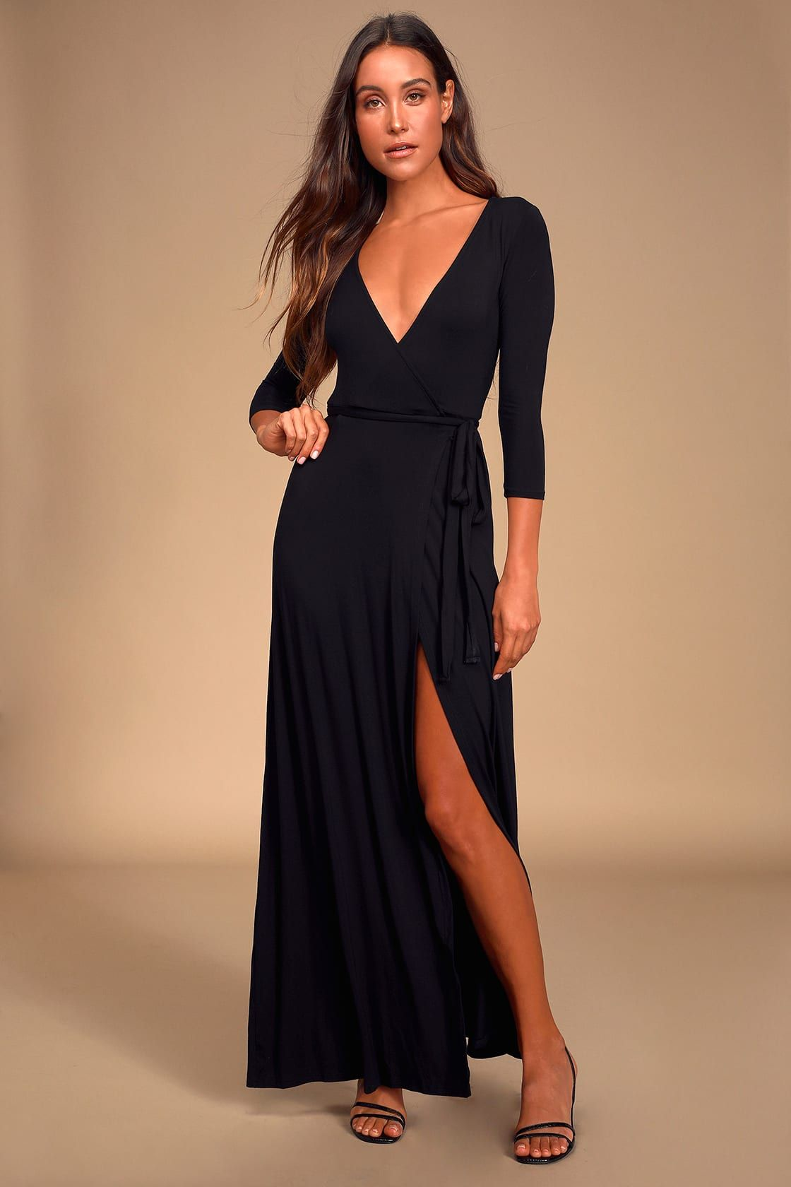 Garden District Black Wrap Maxi Dress Maxi Dress Satin Skater Dress Maxi Wrap Dress [ 1680 x 1120 Pixel ]