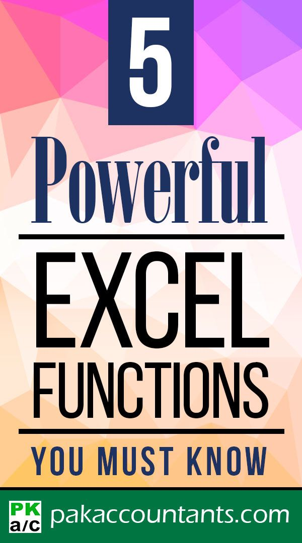 5 Powerful Excel Functions You MUST Know