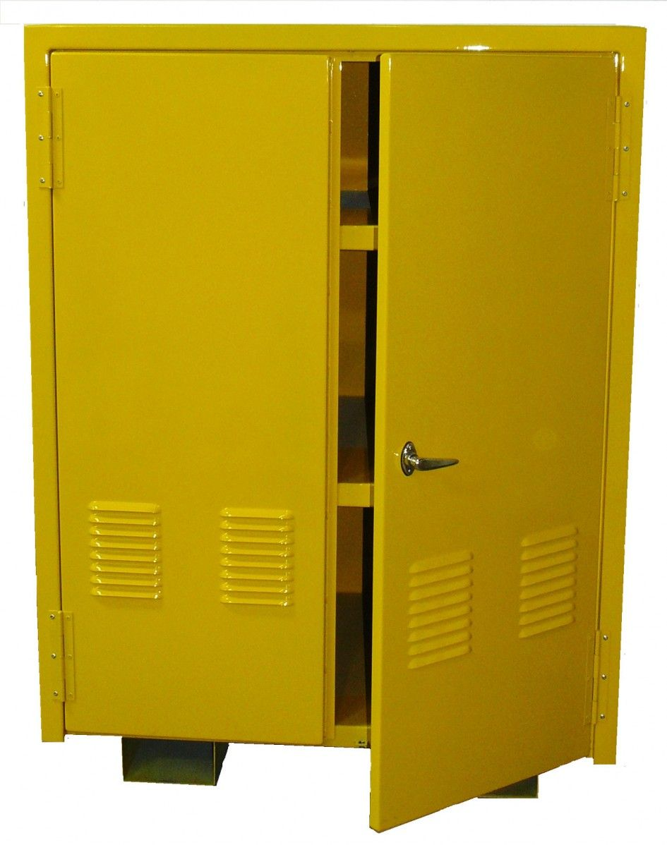 Momentous Vertical Outdoor Storage Cabinets With Rust Proof Paint Metal Body And Stainless Steel Door Handle
