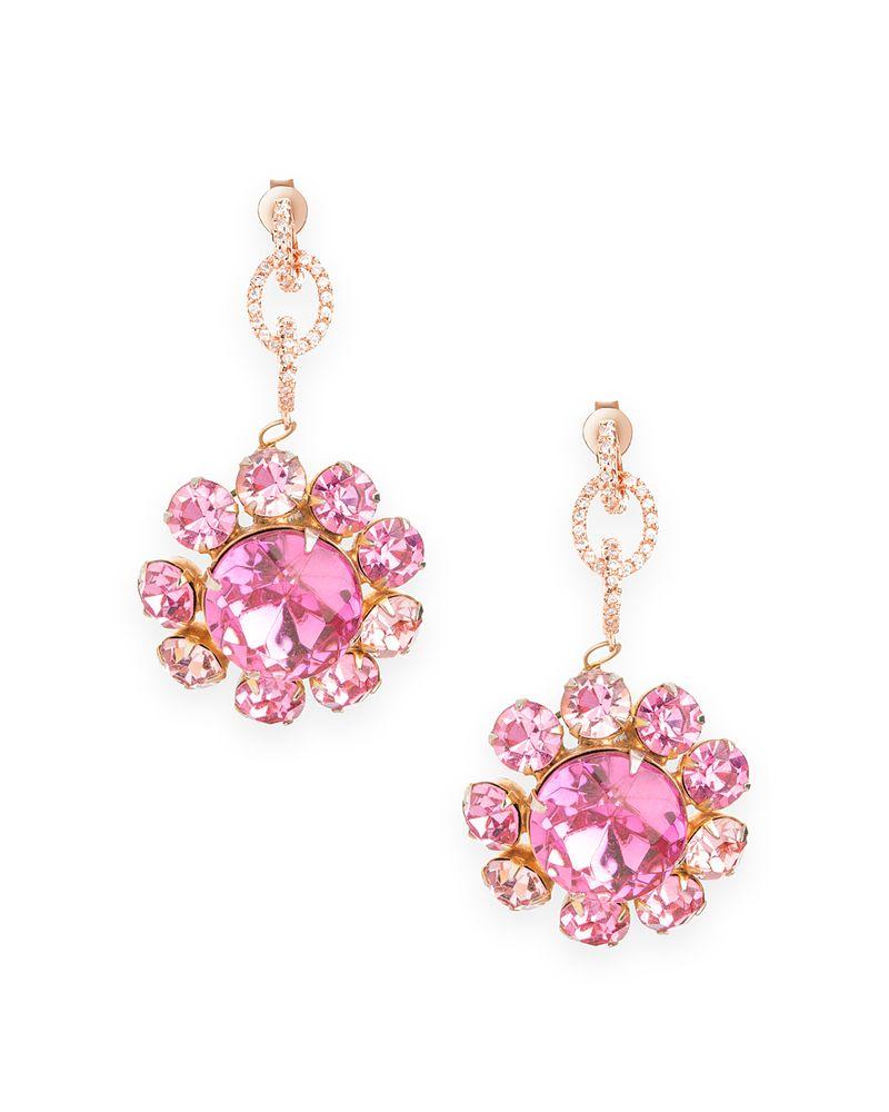 Ashley Earrings w/ rose gold