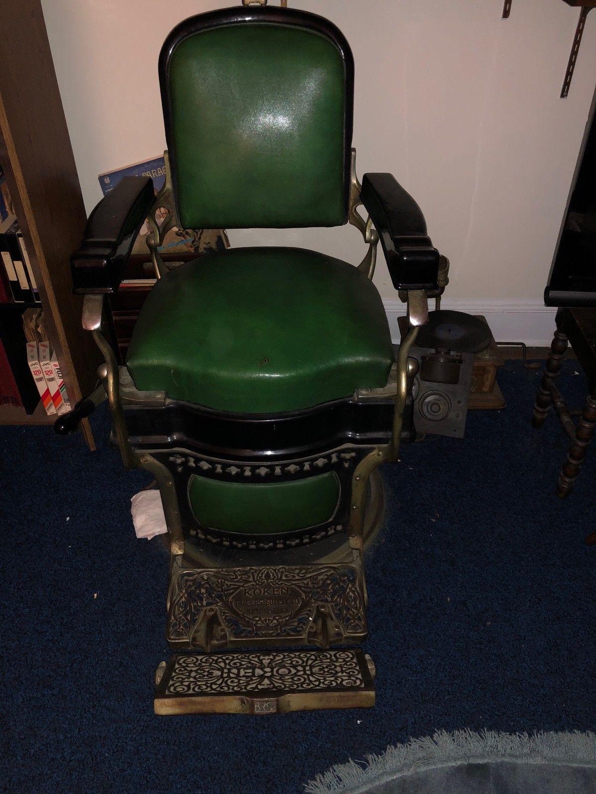 antiquekokenbarberchair barber sale chair for general koken bc victoria antique