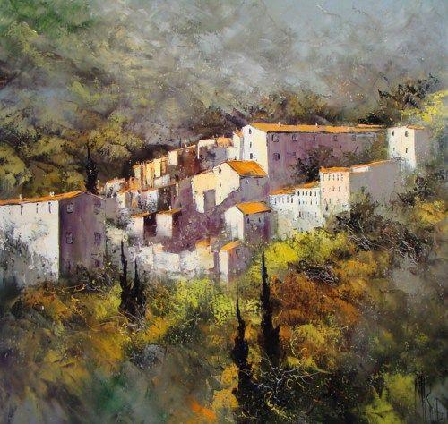 Peinture Huile sur Toile au couteau / Manuel RUBALO