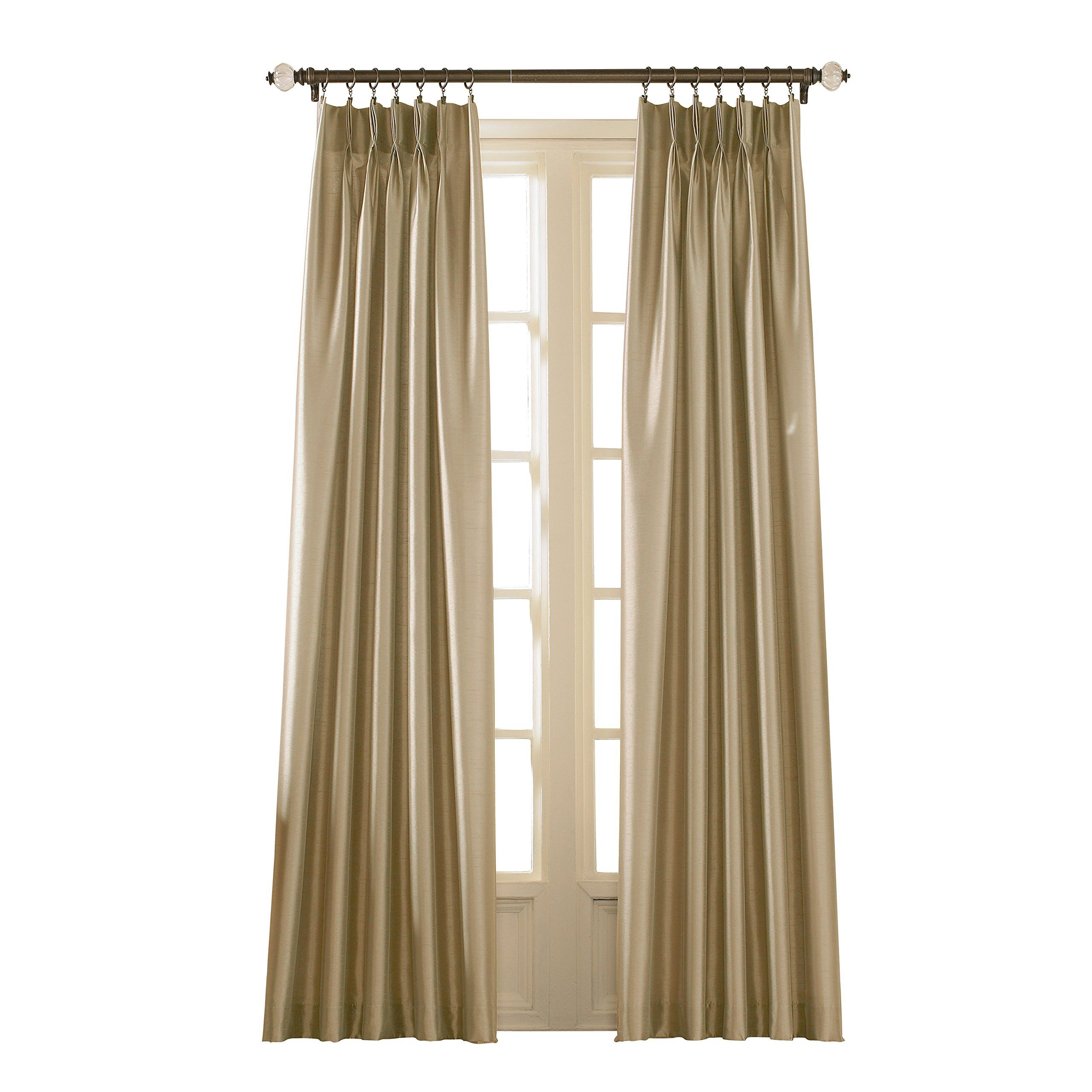 Curtainworks Marquee Curtain Panel 30 By 108 Sand Champagne Beige Lavorist Curtains Panel Curtains Pinch Pleat Curtains