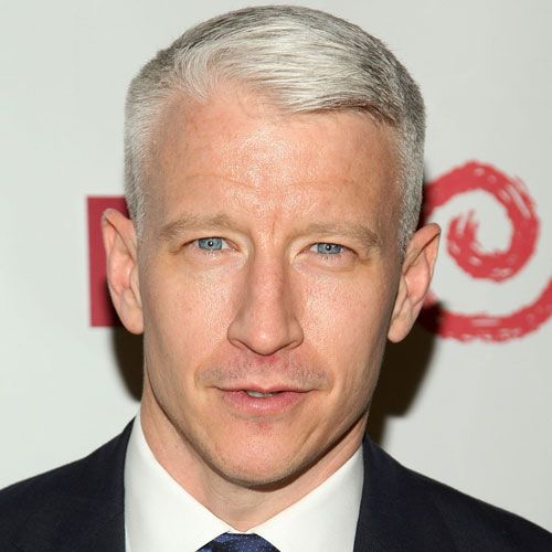 Anderson Cooper Ivy League Hairstyle For Men With Receding Hairline