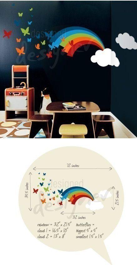 Best Rainbow Butterflies Giant Wall Decal Wall Sticker Outlet 640 x 480