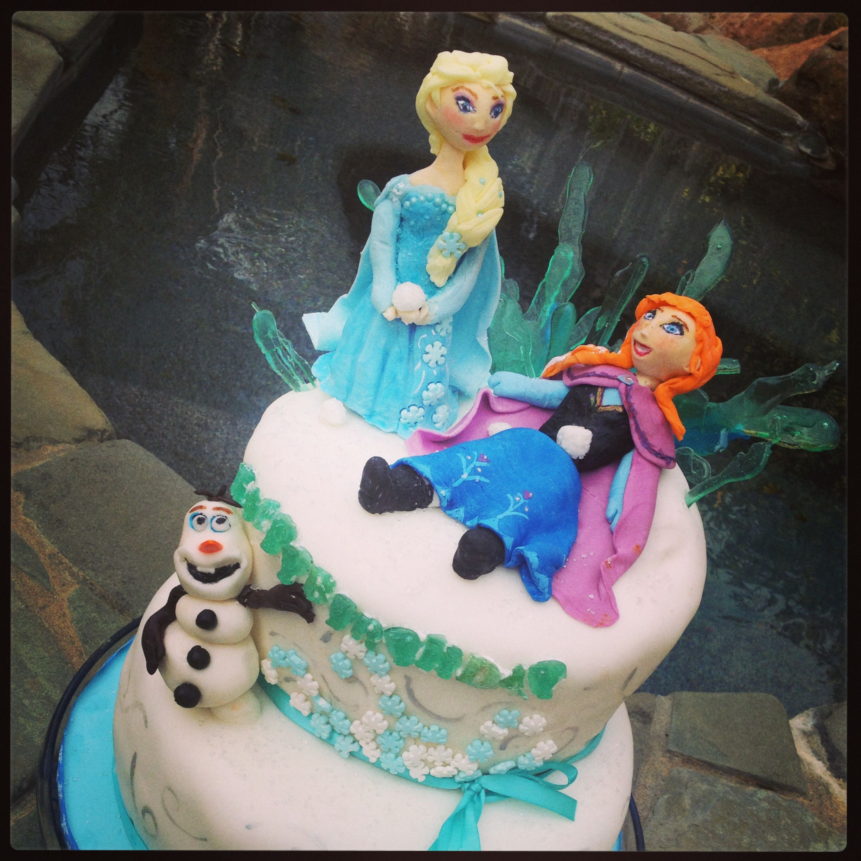 Remarkable Frozen Birthday Cake From Gabbys Custom Cakes In Sacramento Funny Birthday Cards Online Aeocydamsfinfo