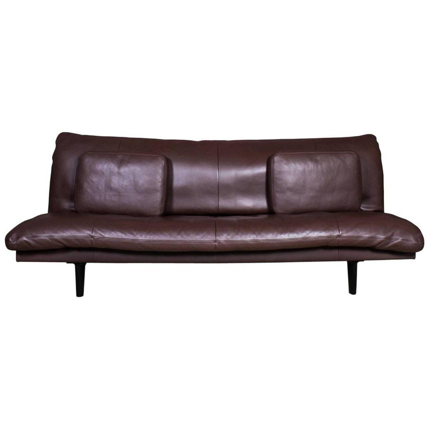 De Sede Chocolate Brown Leather Sofa Or Daybed Model Ds 169