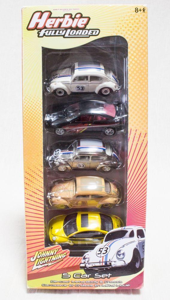 Herbie Fully Loaded Johnny Lightning 5 Car Set White Lightning ...