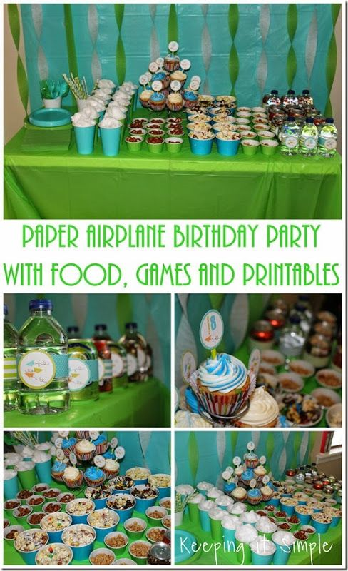 Boys Birthday Party Idea Paper Airplane Birthday Party with Food