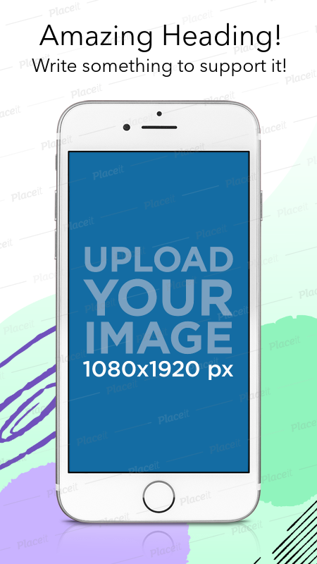 Download Placeit Ios Screenshot Mockup Featuring A Silver Iphone 7 White Iphone App Design Iphone Mockup