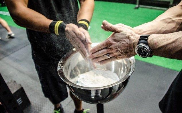 Chalk bowl and garage gym equipment pinterest