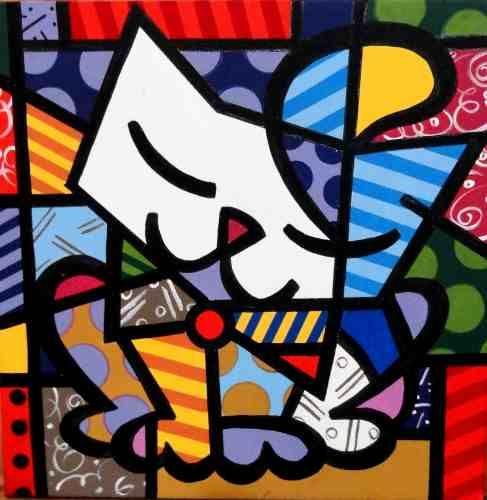 o gato romero brito Colouring Pages