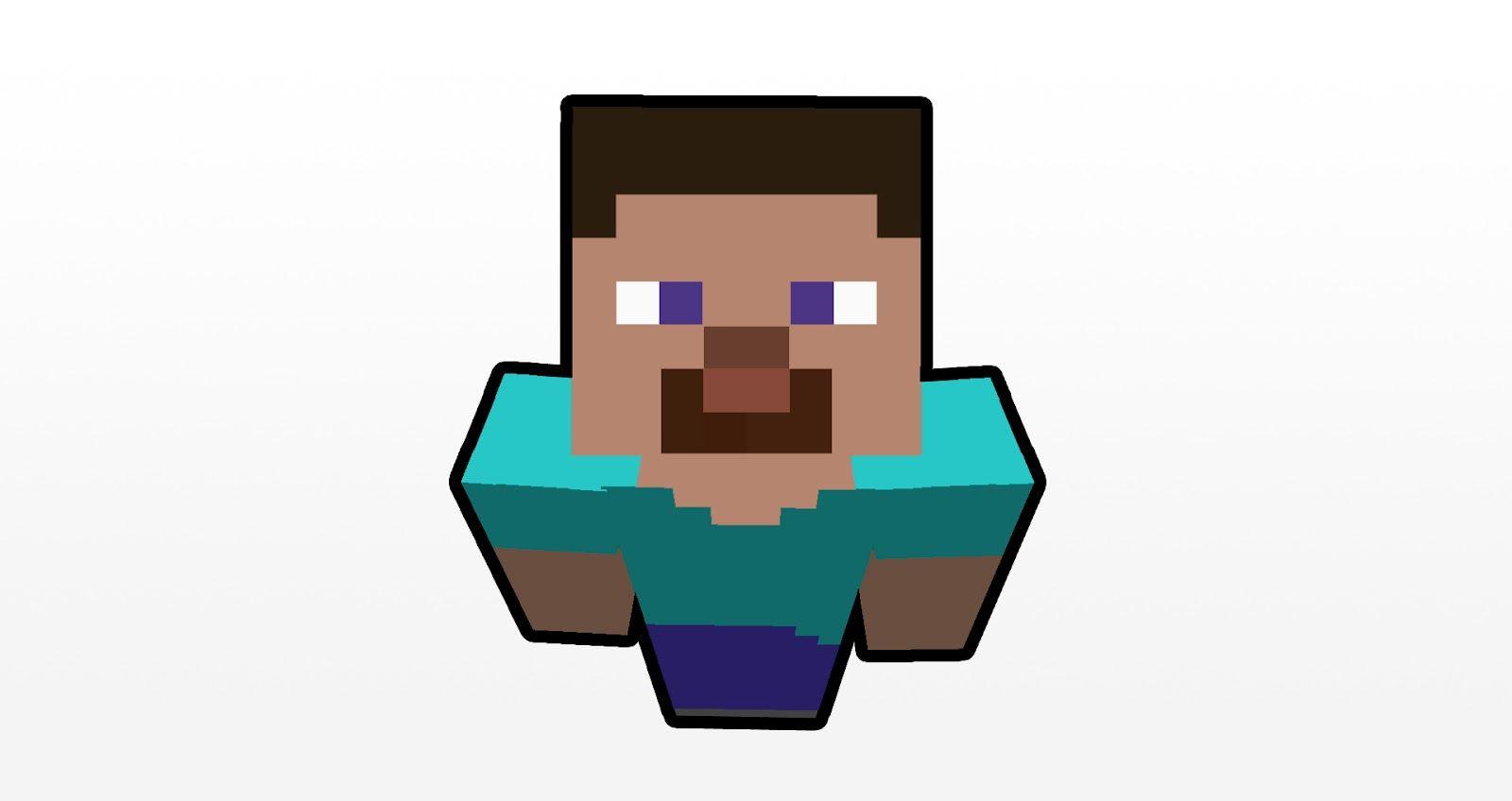 Steve From Minecraft | minecraft steve basic colour minecraft steve header template minecraft ...