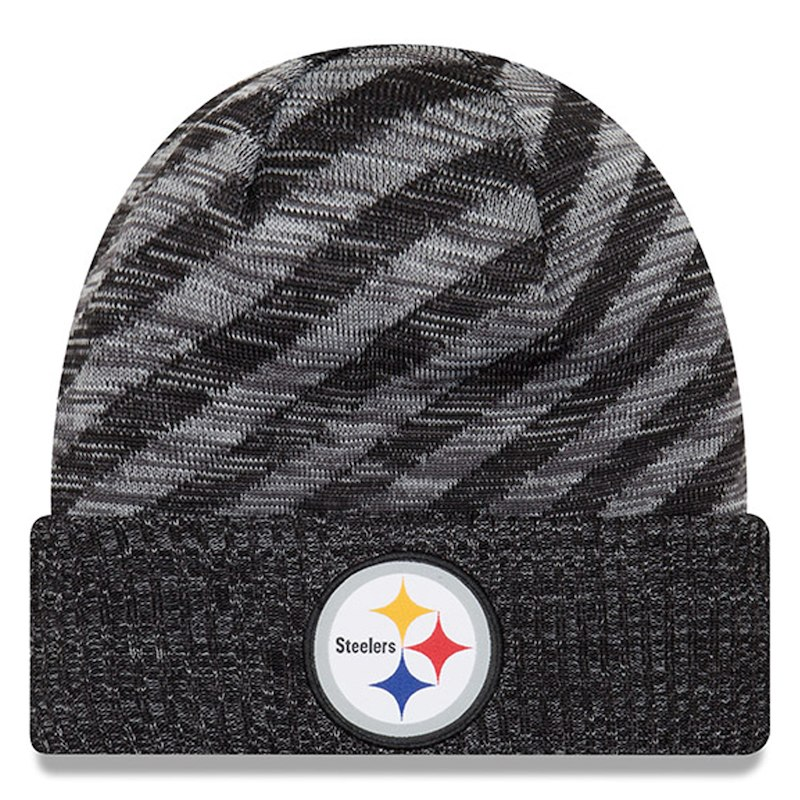 3548cd91 Pittsburgh Steelers New Era Youth 2018 NFL Sideline Cold Weather TD ...