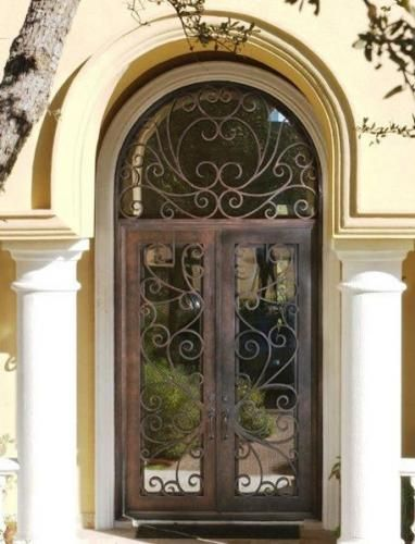 Milan 5 Wrought Iron Doors Windows Gates Railings From Cantera Doors Wrought Iron Doors Front Entrances Wrought Iron Doors Steel Entry Doors