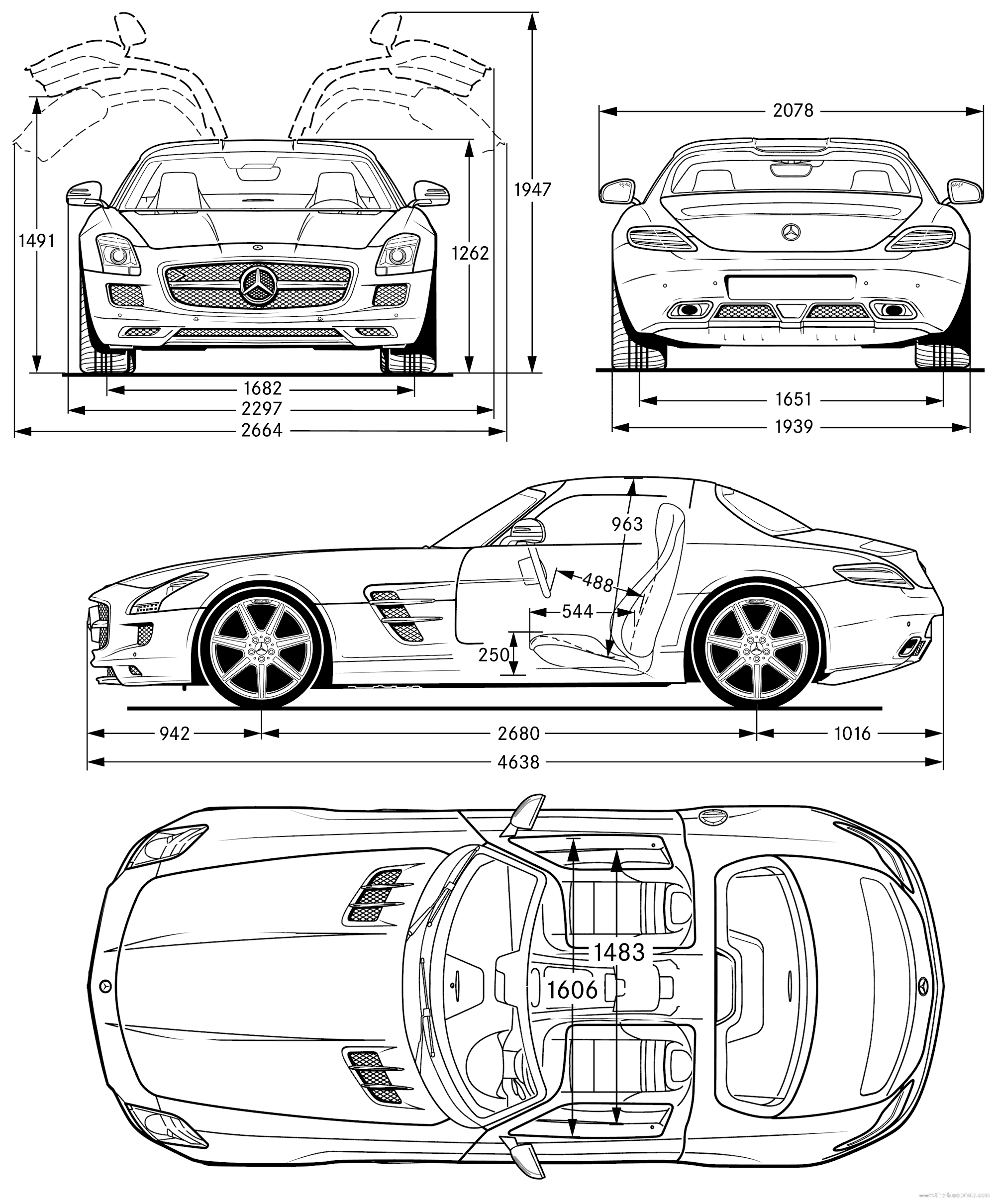 Mercedes-Benz-AMG-SLS-2011-The-Blueprints.com | Vehicles | Pinterest ...