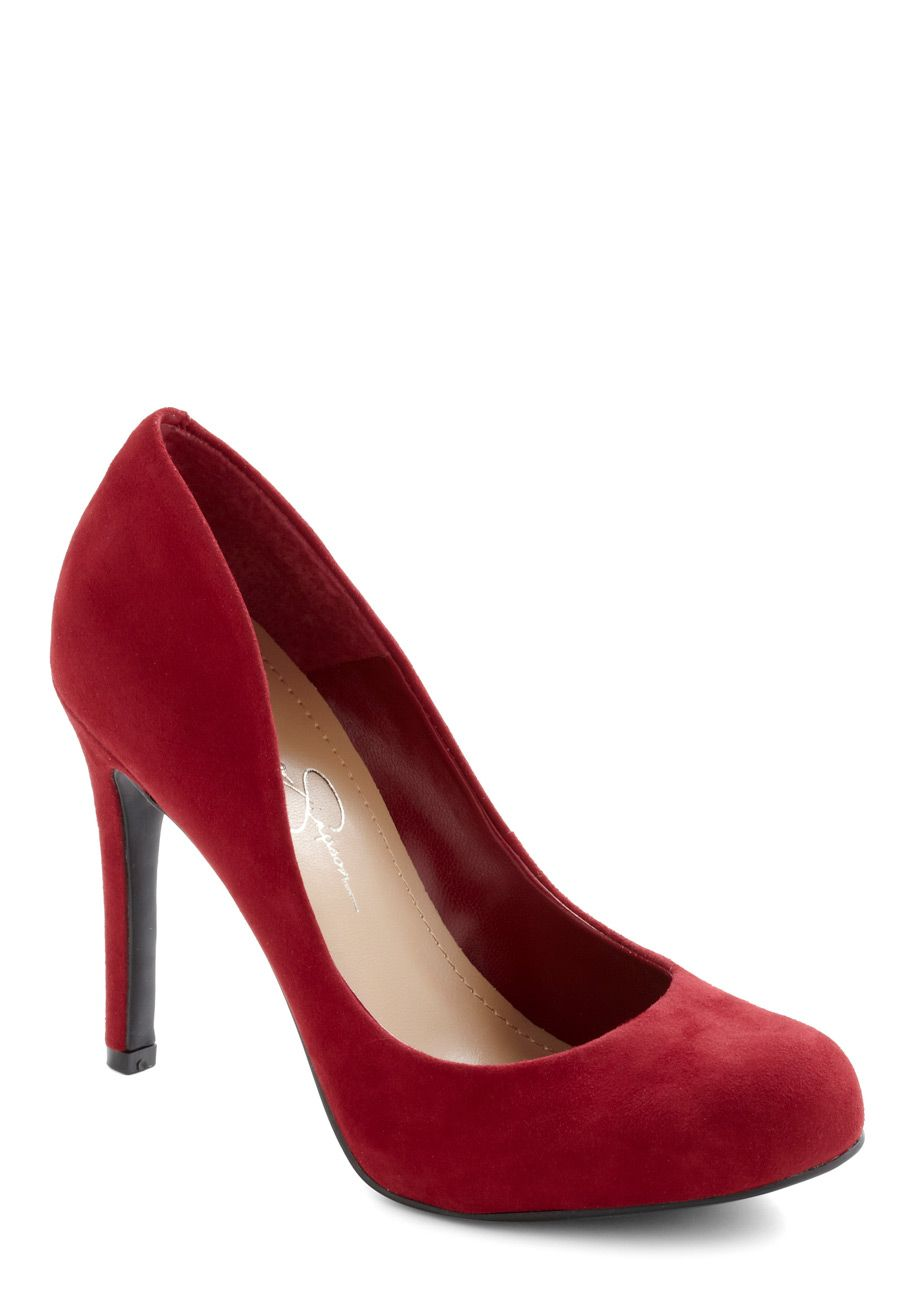 Island in the Crimson Heel - High, Leather, Suede, Red, Solid ...