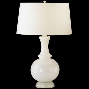 Harriet glass table lamp by robert abbey at lumens com