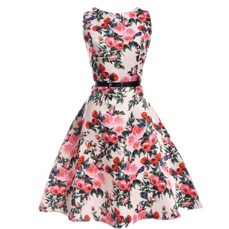 Girls Denim Dress Sleeveless Kids Party Xmas Christmas Dresses 3-11 Years New