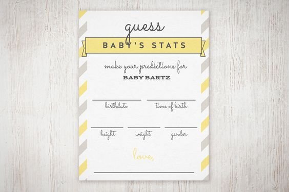 Baby Shower Guess The Stats Free Printable The Little Umbrella