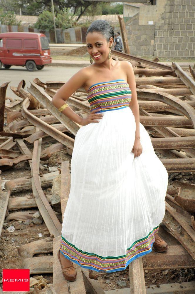 Ethiopian habesha wedding dresses traditional modern for Habesha dress for wedding