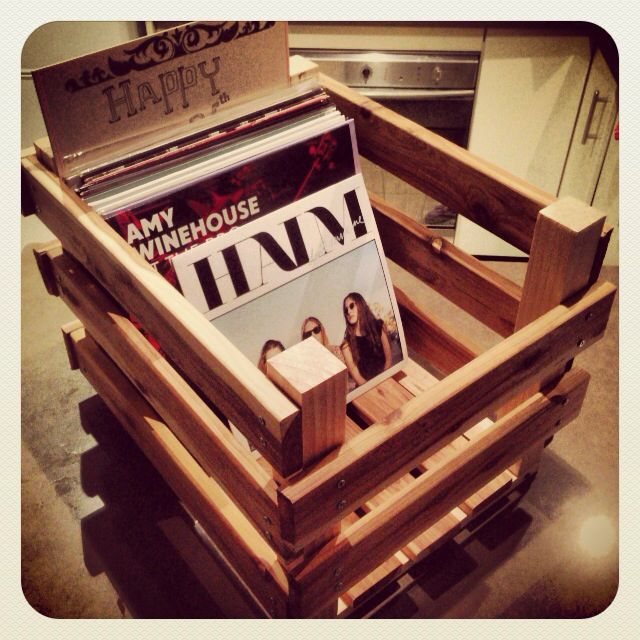 diy vinyl record crate lp record storage crates pinterest crates record storage and storage. Black Bedroom Furniture Sets. Home Design Ideas
