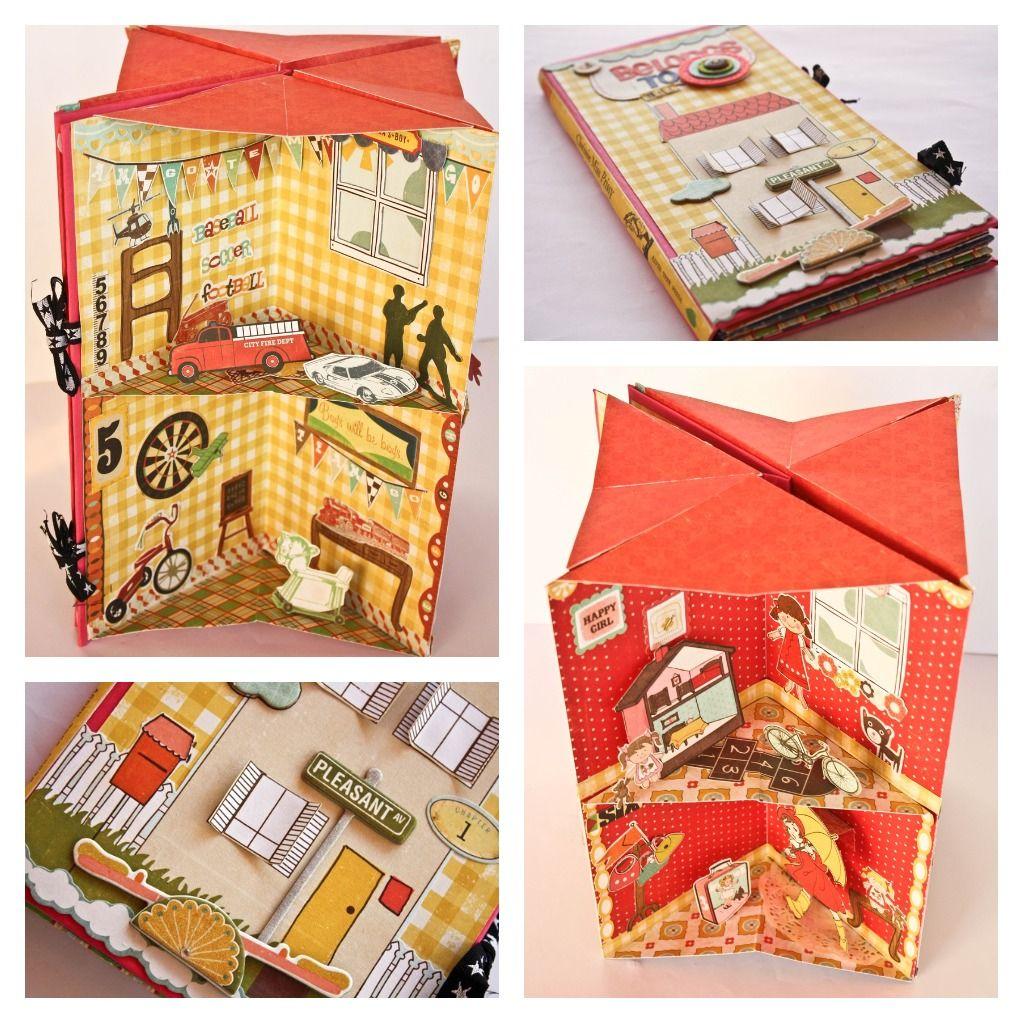 home d co octobre un livre maison pop up scrappez avec mamy anick projet livre objet. Black Bedroom Furniture Sets. Home Design Ideas