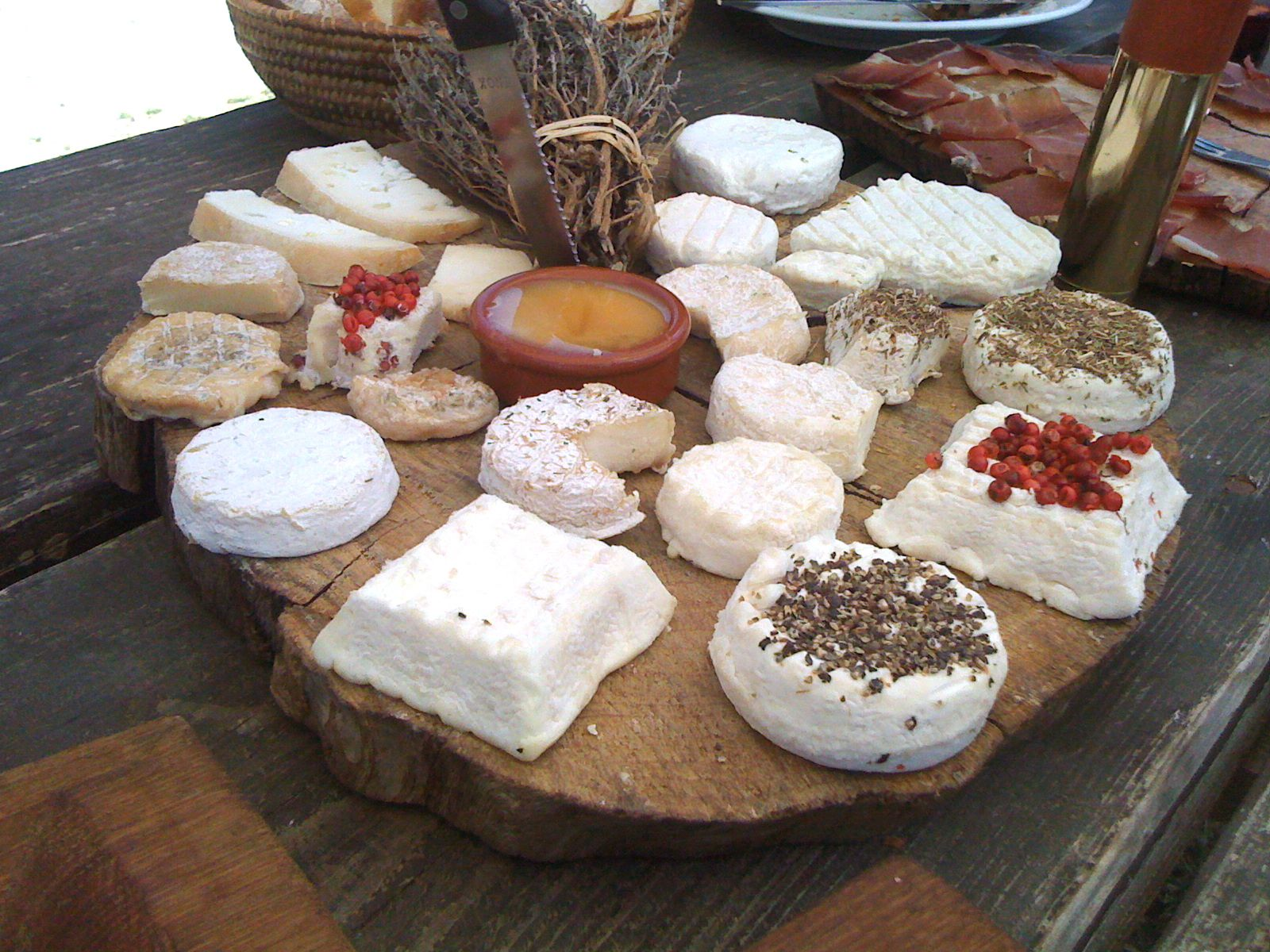 From fresh to aged, the goat cheeses produced and served at Le Castelas, a goat farm atop the Luberon Mountains.