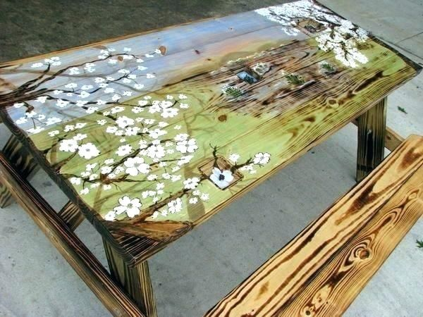 Hand Painted Tables Table Tops Tabletop Ideas Artists Make