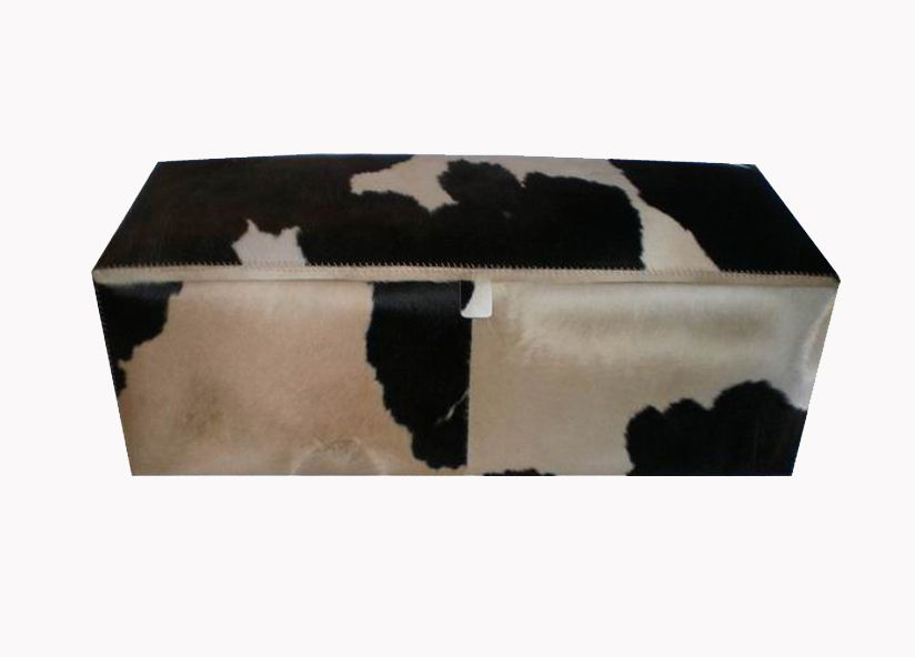 Cow leather case ottoman by iBalDesigns