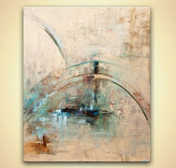 Modern 48 x 36 Original Abstract Acrylic Painting by OsnatFineArt