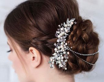 Bridal Hair Piece Bridal Halo Bridal Hair Wreath by Bianoco