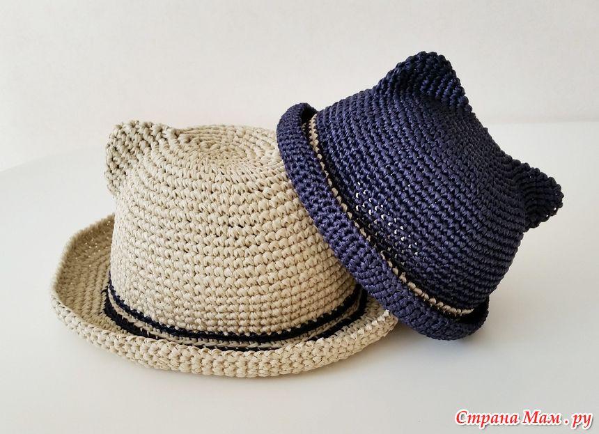 шляпки с ушками детская одежда вязание шляп вязание крючком