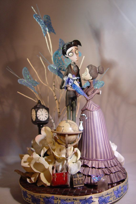 CORPSE BRIDE WEDDING Cake Toppers Victor by STRANGEBREWTOPPERS ...