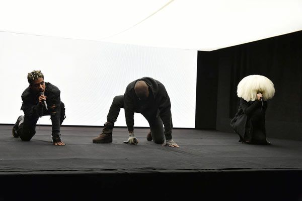 Kanye West Sia Perform Wolves On Snl 40th Anniversary Special Kanye West Kanye New Kanye