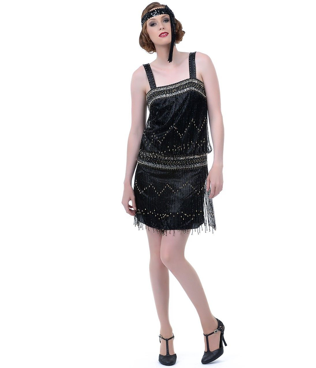 Black drop waist flapper dress